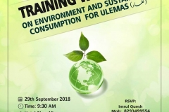 Training Workshop on Environment & Sustainable Consumption