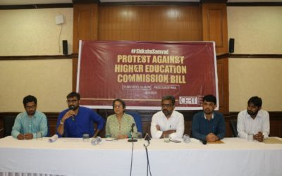 Press Conference by CERT against Higher Education Commission Bill at Press Club of India, New Delhi.